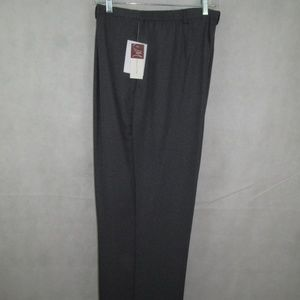 JM Collection Gray Pants Size 18 Relaxed Wide Leg